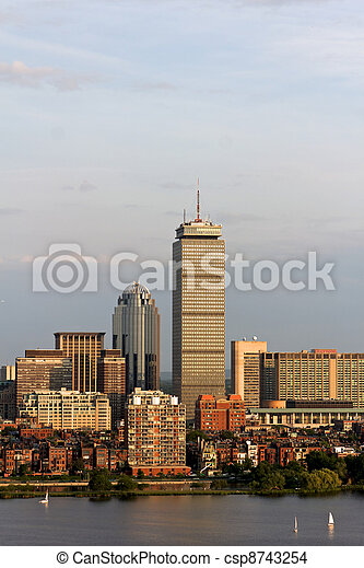 Boston Back Bay with the Prudential Tower - csp8743254