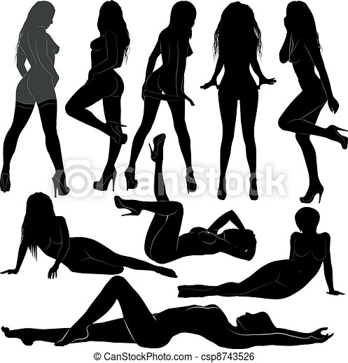 Nude woman silhouette clip art sorry