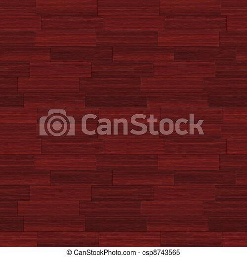 Red Wood Parquet - csp8743565