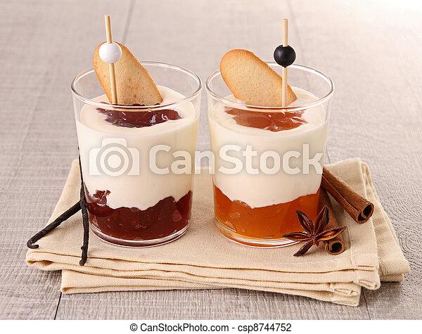 verrine of fresh dessert - csp8744752