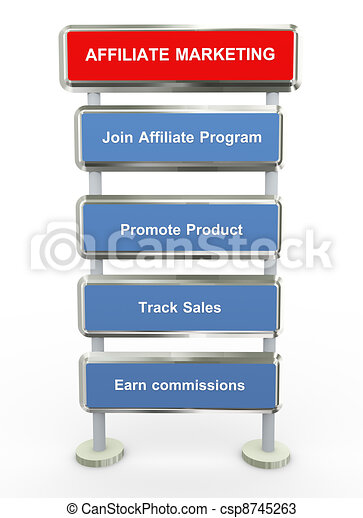 Affiliate marketing  - csp8745263
