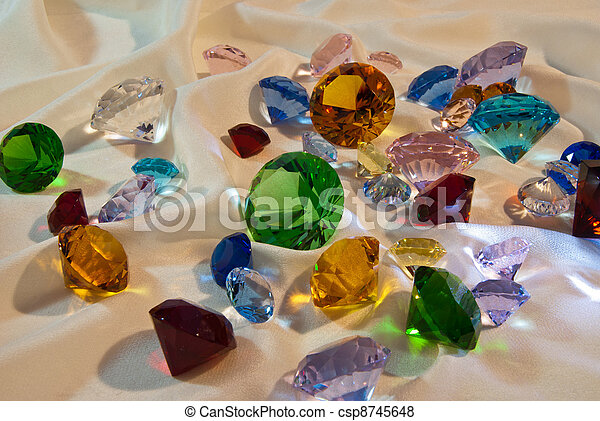 Collection of glass gems - csp8745648