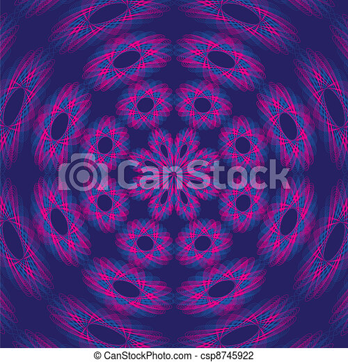 Psychedelic Purple Background - csp8745922