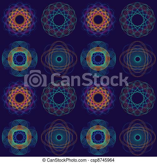 Intricate Circular Pattern - csp8745964