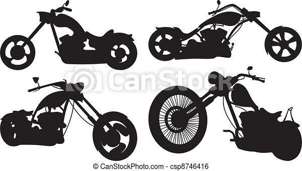 Chopper Bikes Drawings Bike Chopper Stock
