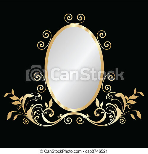 Mirror gold frame - csp8746521