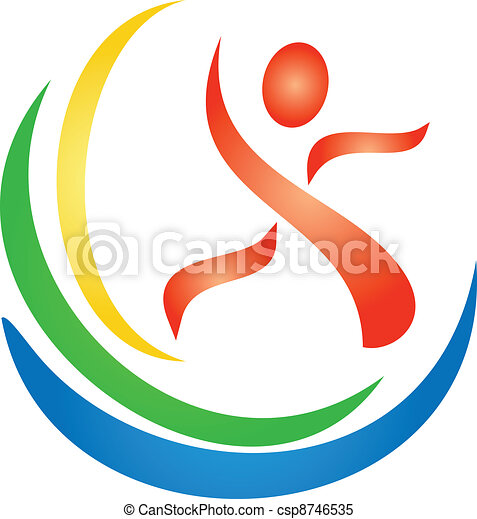 Fitness figure logo - csp8746535