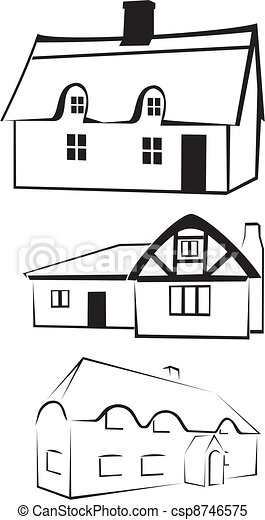 architecture - house silhouette - csp8746575