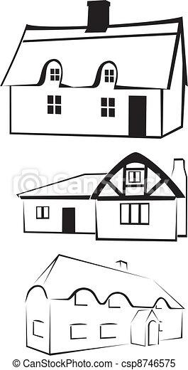 architecture - house silhouette - csp8746575