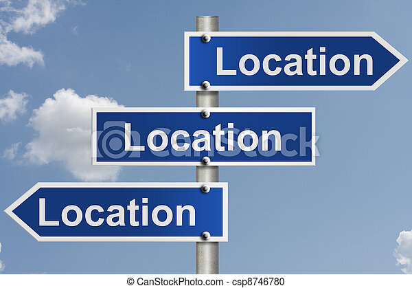Real estate is all about the location - csp8746780