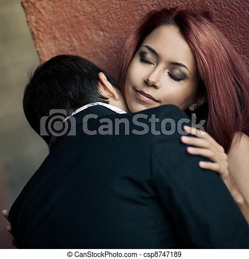 temptation woman and man  - csp8747189