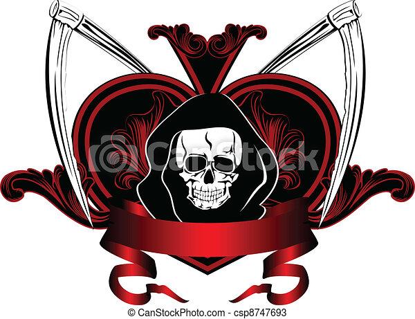 skull and plaits - csp8747693