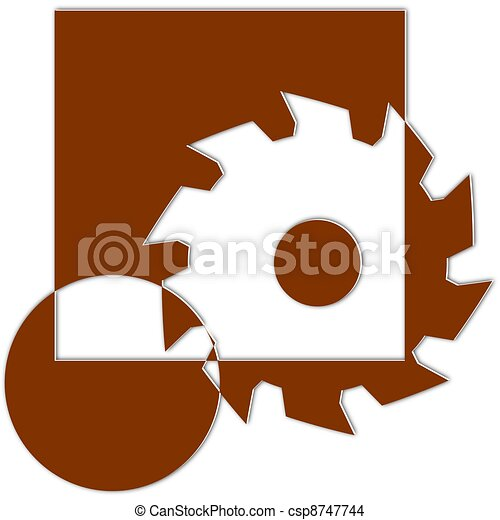 Logo for carpenters and joiners - csp8747744