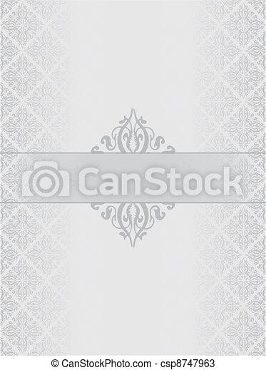 Silver luxury background - csp8747963