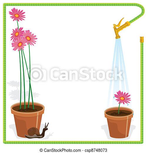 Garden Party Invitation - csp8748073