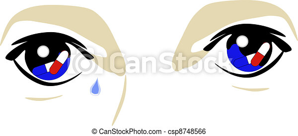 Eyes of a drug user - csp8748566