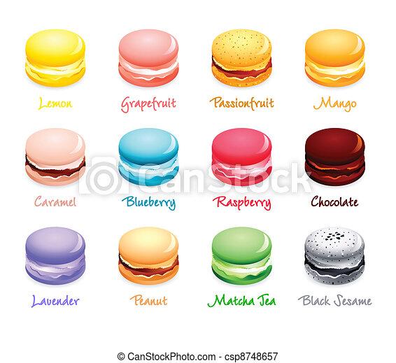 Macaroon flavors - csp8748657