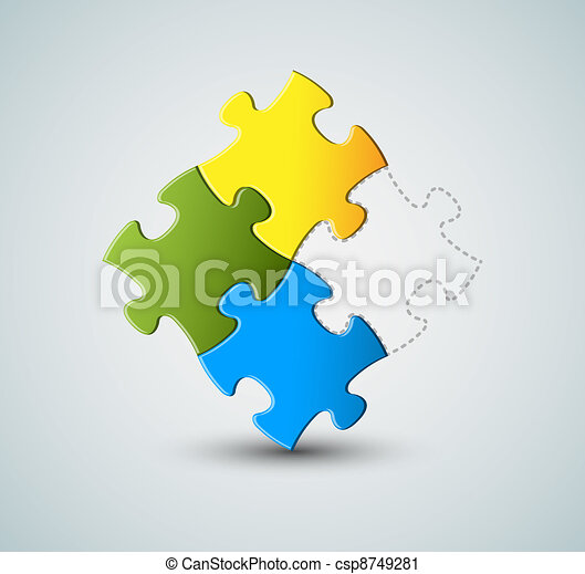 Vector puzzle / solution background - csp8749281