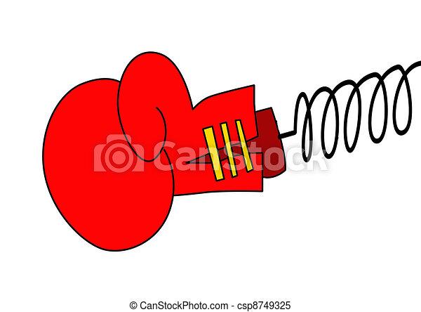 Illustrations de boxe gant sur blanc fond csp8749325 - Gant de boxe dessin ...