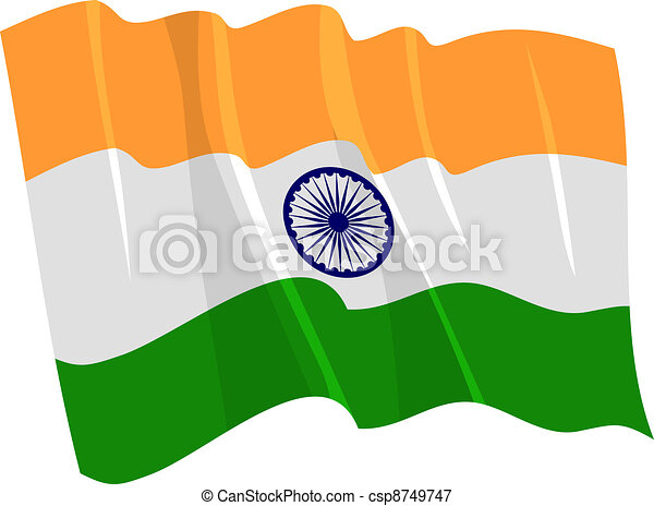 waving flag of India - csp8749747