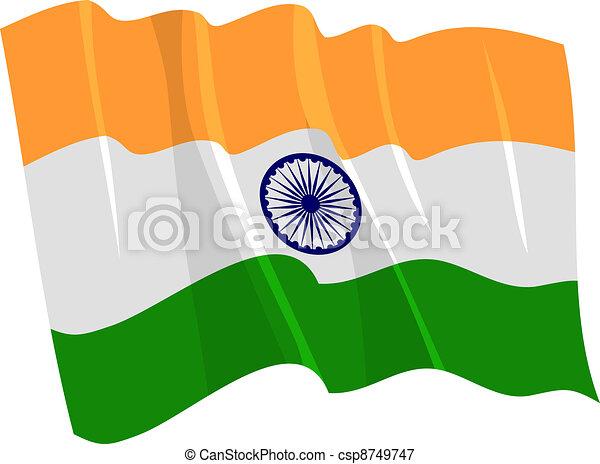 waving flag of India - csp8749747