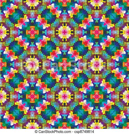 Modern mosaic in oriental style - csp8749814