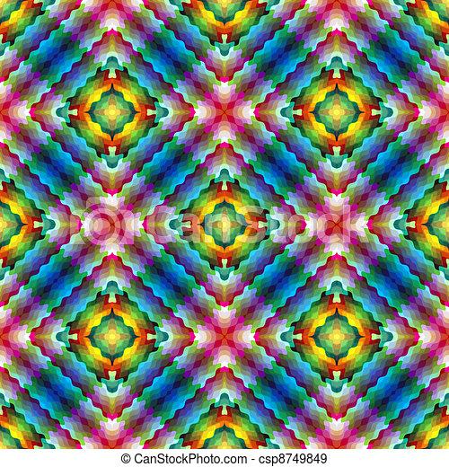 Modern mosaic enspired by Art Novea - csp8749849