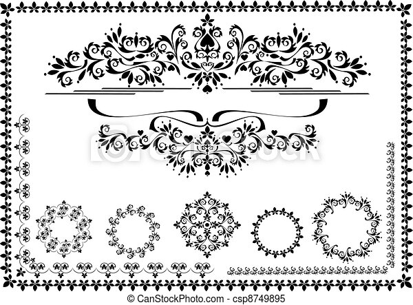 Decorative ornament border, frame - csp8749895