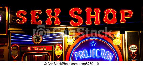 Sexy shop entrance - csp8750110