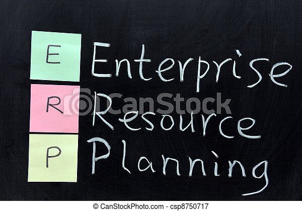 ERP, Enterprise Resource Planning - csp8750717
