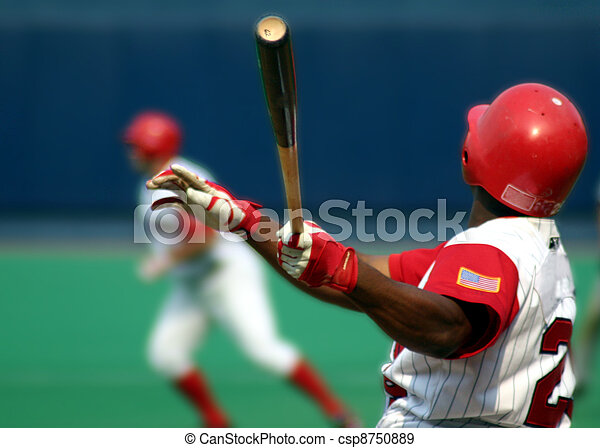 Right-handed baseball batter - csp8750889