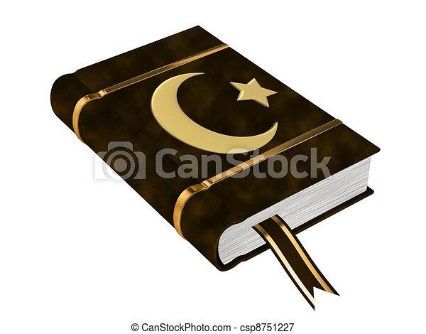 Book Of Koran - csp8751227