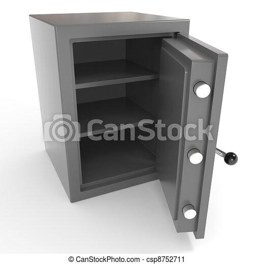 Open empty safe. - csp8752711