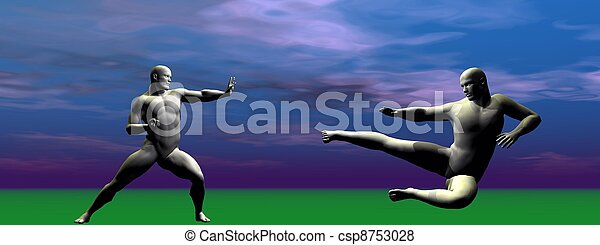 men self defence - csp8753028