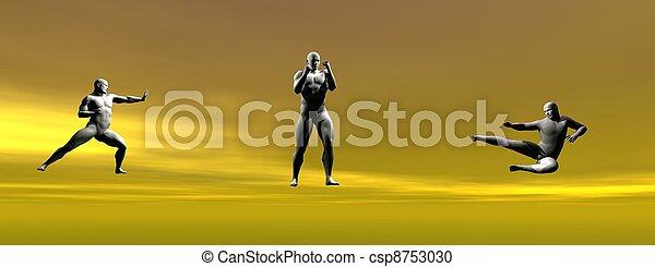 men self defence - csp8753030