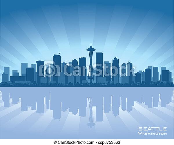 Seattle Skyline Drawing Seattle Skyline Csp8753563