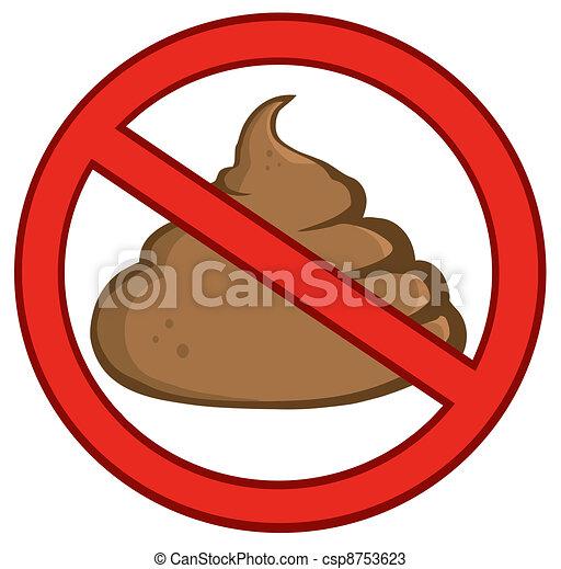 Stop Poop Sign - csp8753623
