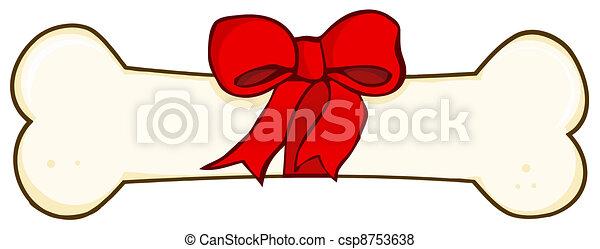 Dog Bone Gift - csp8753638