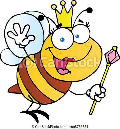 EPS Vector of Friendly Queen Bee Cartoon Character csp8753654 - Search ...