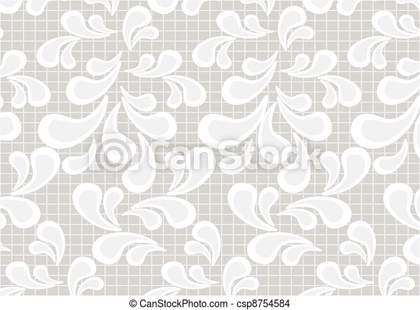 Paisley on light beige background - csp8754584