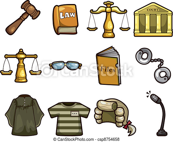 Vector of law icons csp8754658 - Search Clip Art ...