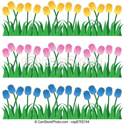 Tulip Rows - csp8755744
