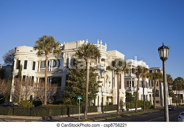 Historic houses in Charleston - csp8756221