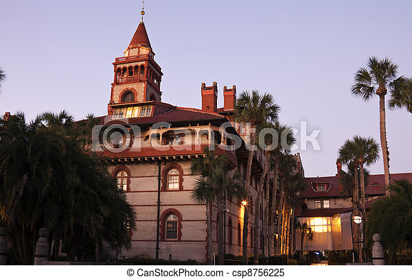 St. Augustine historic architecture - Flagler College - csp8756225