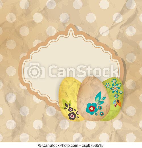 Easter frame - csp8756515