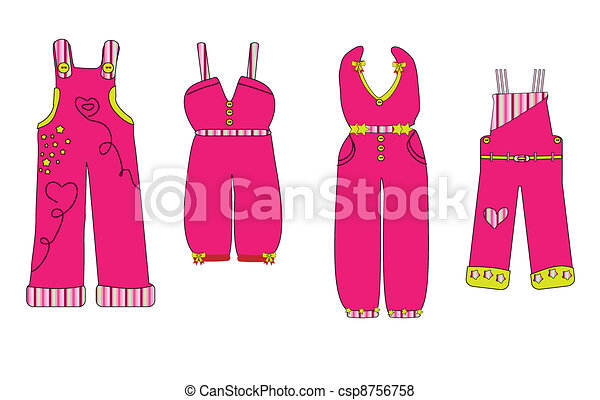 overall. clothes for baby vector - csp8756758