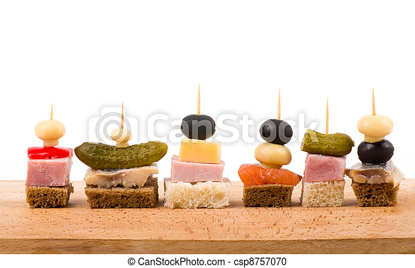 Set of tasty canape - csp8757070