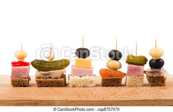 Set of tasty canape - csp8757070