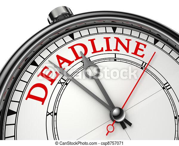 deadline concept clock - csp8757071