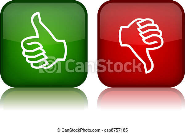 Thumbs up and down vector buttons - csp8757185